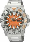 Seiko 5 Men's SNZF49  Automatic Divers Orange Dial Watch 100M Stainless Steel image