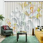 Golden Granular Pearl 3D Curtain Blockout Photo Printing Curtains Drape Fabric