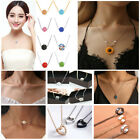 Women Charm Stainless Steel Necklace Pendant Resin Crystal Chain Choker Jewelery