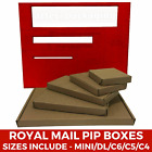 Royal Mail Large Letter Cardboard Postal Mailing PiP Boxes-Mini A6 DL A5 A4-RM48