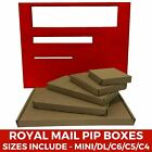 Brown Postal Cardboard Boxes Small Mailing Shipping Cartons Multi Listing PIP