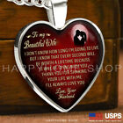 Necklace Anniversary Love Gift For Wife Thanks for Sharing Your Life with Me