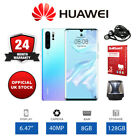"New Huawei P30 Pro 6.47"" Unlocked Smartphone, 128GB Storage, 8GB RAM - Crystal"