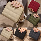 Women Coin Purse Mini Wallet Ladies Credit Card Key Holder Leather Check Handbag image