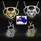 Cat And Dog Cute Stainless Steel Dog Cat  Necklace Pendant Jewellery Print Gift