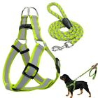 Step-in Dog Harness&Walking Leash No Pullig Reflective Nylon Dog Vest Leads IN9