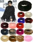New Women's Synthetic Fur Fluffy Fleece Lining Winter Headband Ear Warmer