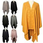 New Ladies Cotton Silk Wool Diamante Decoration Fashion Shawl Poncho