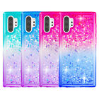 For Samsung Note 10 10 Plus 5G Bling Sparkly Flowing Liquid Floating Cover