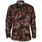 Original Swiss M83 Camo Field Jacket - Surplus Alpentarn Camouflage Coat Parka