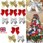 Christmas Xmas Tree Bows Decorations Ornaments Baubles Gift Decor Velvet 1-48PCS