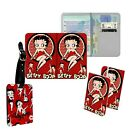Betty Boop Classy Red Lady Kiss Passport Slim Cover Holder Luggage Tag TravelSet £16.99 GBP on eBay