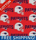 "New England Patriots NFL Cotton Fabric - 60"" Wide - Style# 6467 - Free Shipping! $7.95 USD on eBay"