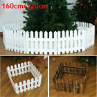 320cm Christmas Tree Wooden Picket Fence Garden Fencing Lawn Home Yard Xmas Uk