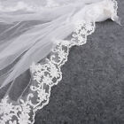 Fashion 1 Layer Ribbon Edge New Bride Wedding Bridal Veil with Comb Lace
