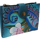 ANNA by Anuschka Hand Painted Leather Ladies Wallet Women's Wallet NEW