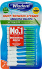 Wisdom Clean Between Interdental Brushes - 20 pack - Medium Green CHOOSE AMOUNT