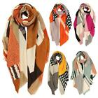 New Multi Pattern Colour Block Cashmere Women's Winter Scarves Shawls