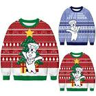 Mens Womens Couple Christmas Long Sleeve Sweatshirt Pullover Jumper UGLY Sweater