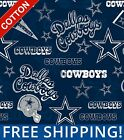 "Dallas Cowboys NFL Cotton Fabric - 58-60"" Wide - Style# 14443 - Free Shipping! $10.95 USD on eBay"