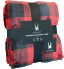 Spyder Sherpa Lined Printed Flannel Ultra Plush Throw Blanket image