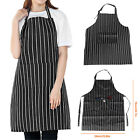 Women Men Waterproof Kitchen Bib Aprons Dress Chef BBQ Cooking Baking Restaurant