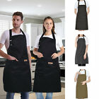 Kyпить Women Men Waterproof Kitchen Bib Aprons Dress Chef BBQ Cooking Baking Restaurant на еВаy.соm