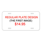 Custom Personalized License Plate With Add Names To Free Pop Corn Design NEW