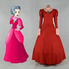 Cinderella Dress Adult Cinderella Lady Tremaine red dress cosplay costume