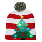 WR_ Christmas Tree Snowflake Gingerbread Man LED Light Knitted Cap Beanie Hat Ra