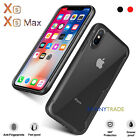 iPhone XS MAX Hybrid Bumper Shockproof Case Back Clear Bumper Protective Cover