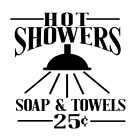 Hot Showers Bathroom Sign Vinyl Decal Sticker For Home Wall Decor Choice