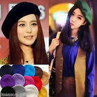Retro Women Wool Blend Warm Beret Beanie Hat Cap French Style  Lovely Costume