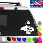 Superman Decal Sticker Buy 2 Get 1 Free Choose Size & Color Man Of Steel 009