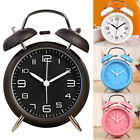Macaron Color Analog Twin Bell Alarm Classic Bedroom Clock Vintage Loud Wake US