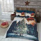 Christmas Winter Northern Lights Duvet Cover Printed Bedding Set And Pillowcase