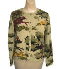 David Brooks Women's Sweaters NWT Beige Equestrian Silk Blend Knitted Cardigans