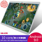 "10.1"" 4g-lte Tablet Pc 8+128gb 10core Android 9.0 Wifi Phone Phablet Dual Sim Uk"