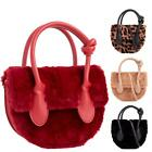 New Ladies Soft Fluffy Faux Fur Leather Casual Party Winter Top-Handle Bag