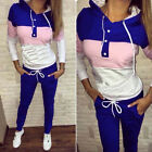 Women 2Pcs Tracksuit Hoodie Sweatshirt Top Jogger Pants Set Sportwear Sweat Suit