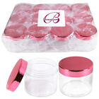 2oz/60g/60ml High Quality Acrylic Container Jars - Clear with Rose Gold Lid