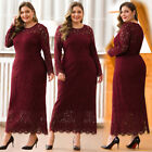 Ever-Pretty US Plus Size Floral Lace Long Bridesmaid Dresses Cocktail Party Gown