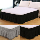 New Elastic Bed Skirt Poly-Cotton  Fit Wrap Around Twin Full Queen King Size image