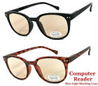 Round Computer Glasses Anti UV Reflective Blue Light Ray Readers for Men  Women