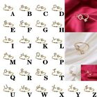 Exquisite Fashion 26 English Alphabet Style Ring Letter Fashion Copper Ring HY