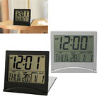 Floding Digital LCD Screen Travel Alarm Clocks Thermometer Timer Calendar Clock
