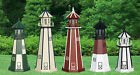 4-foot Outdoor Wooden Lighthouse w/ Electric Rotating Light & Grounded Plug