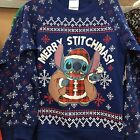 Merry Stitchmas Disney Stitch Christmas Sweatshirt Ugly Sweater Party 2XL NEW