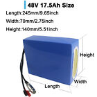 36/48 VOLT 17.5 Amp Hours Lithium Li-ion E-Bike Scooter Battery for 500W 1000W