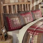 VHC Rustic Sham Tacoma Bedding Red Cotton Patchwork image